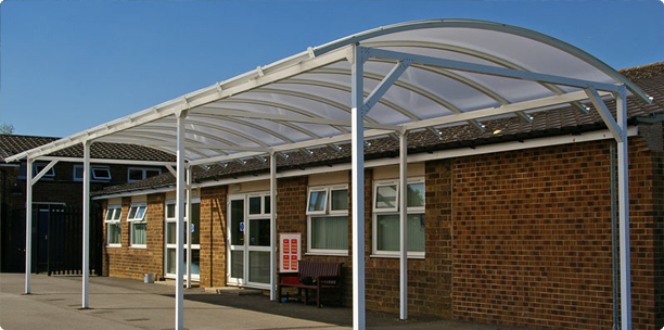 Contemporary Door Canopies & Curved Roof Canopies Domestic Use Commercial Use School Use ... memphite.com
